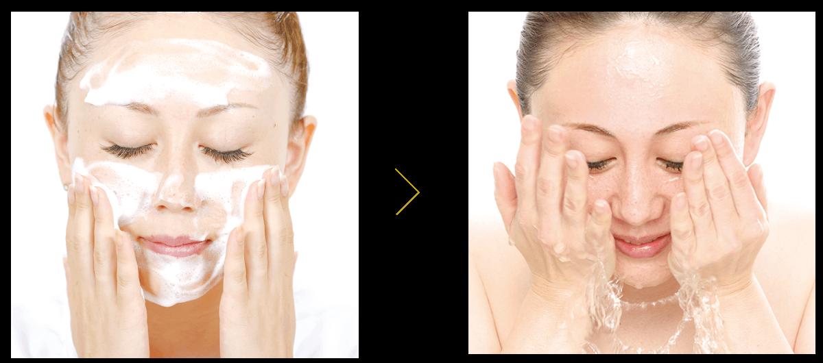 照片:充分攪拌後,洗臉,然後用冷水或溫水徹底沖洗。
